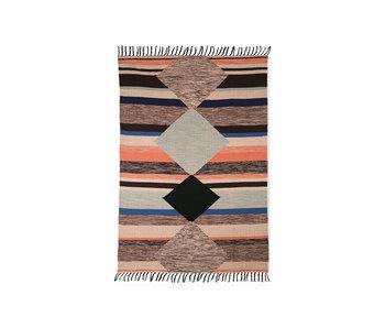 HK-Living Printed carpet indoor / outdoor - multi color 120x180cm