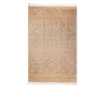 HK-Living Trykt tæppe indendørs / udendørs - naturligt 150x240cm