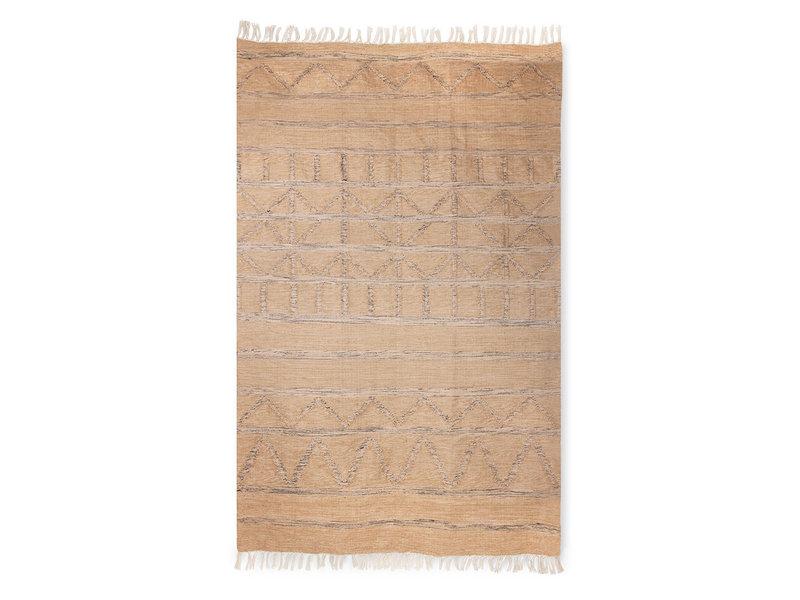 HK-Living Geprint vloerkleed indoor/outdoor - naturel 150x240cm