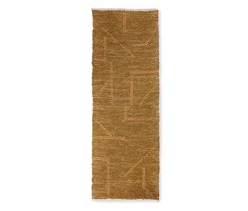 HK-Living Handgewebter Teppichläufer - Senf / Honig 70x200cm