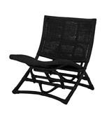 Bloomingville Baz lounge stoel rotan - zwart