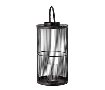 Bloomingville Effie lantern - bamboo / glass