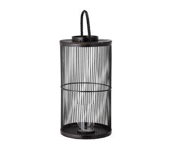 Bloomingville Lanterne Effie - bambou / verre