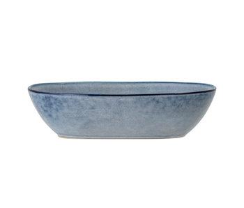 Bloomingville Sandrine serveerschaal blauw -L25,5xH6,5xW16,5 cm