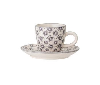 Bloomingville Elsa espressokop en schotel - set van 6 stuks