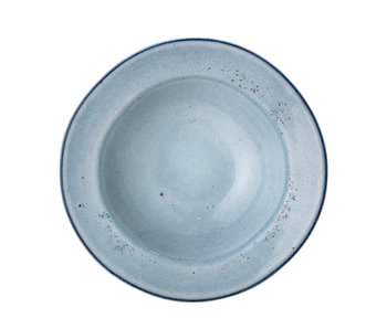 Bloomingville Sandrine pasta plate blue - set of 4 pieces
