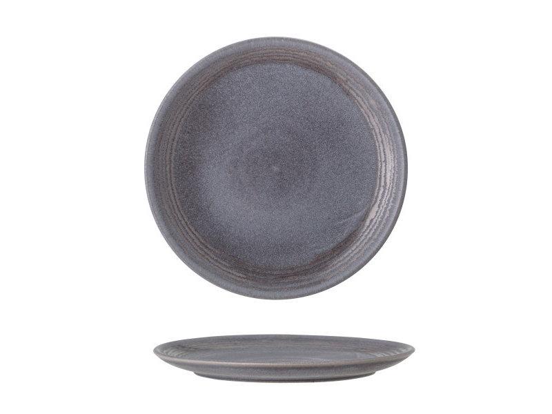 Bloomingville Raben bord grijs Ø21cm - set van 6 stuks