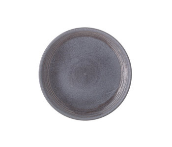 Bloomingville Raben plate gray Ø21cm - set of 6 pieces