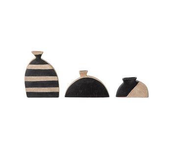 Bloomingville Nezha terracotta vaas - set van 3 stuks