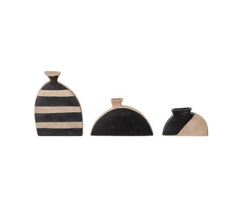 Bloomingville Nezha terracotta vase - set of 3 pieces