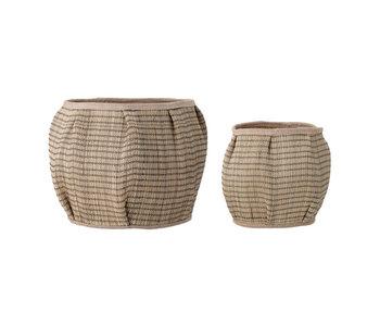 Bloomingville Diora baskets - set of 2 pieces