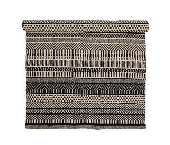 Bloomingville Joob rug wool - black