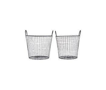 House Doctor Wire set of 3 baskets black