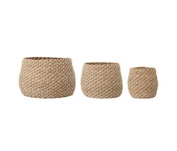 Bloomingville Malli baskets - set of 3 pieces