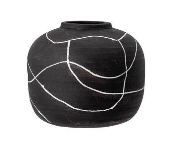 Bloomingville Niza vase - black