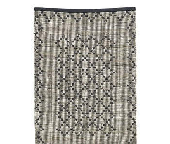 Nordal Chindi woven rug - leather / cotton
