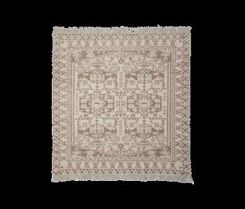 House Doctor Wowe rug - beige 180x180cm