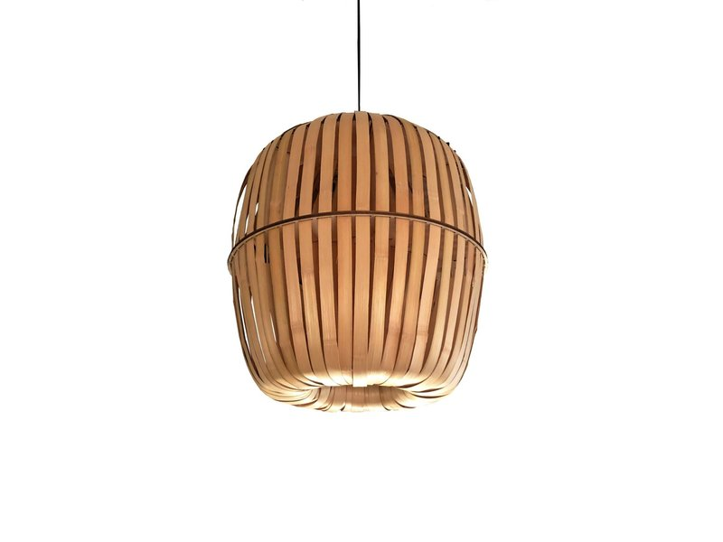 Ay Illuminate Kiwi hanglamp bamboe - large