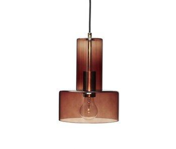 Hubsch Lampe à suspension en verre - marron