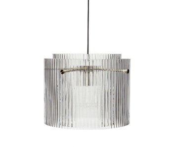 Hubsch Hanglamp glas/metaal - clear/nickel
