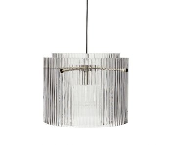 Hubsch Lampe à suspension verre / métal - clair / nickel