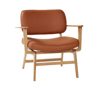 Hubsch Lounge stoel - naturel/bruin