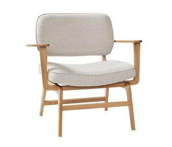Hubsch Lounge stoel - naturel/grijs