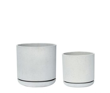 Hubsch Bloempot grijs - set van 2 stuks