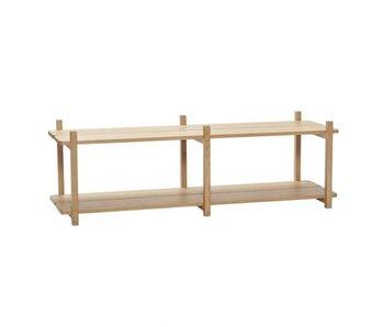 Hubsch Cabinet with 2 shelves oak - natural