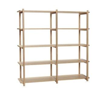 Hubsch Cabinet with 5 shelves oak - natural