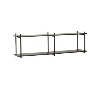 Hubsch Estante de pared madera / metal - negro