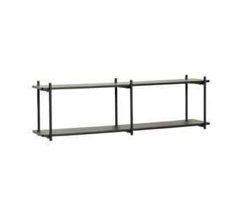 Hubsch Wall rack wood / metal - black