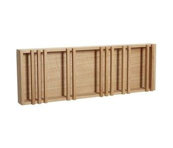 Hubsch Estante de pared madera - natural
