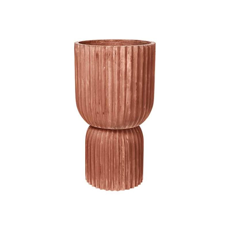 Broste Copenhagen Fiber flower pot   terracotta