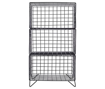 House Doctor 3 Tier rack cabinet iron black