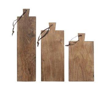 HK-Living Planche à pain en bois ensemble de 3