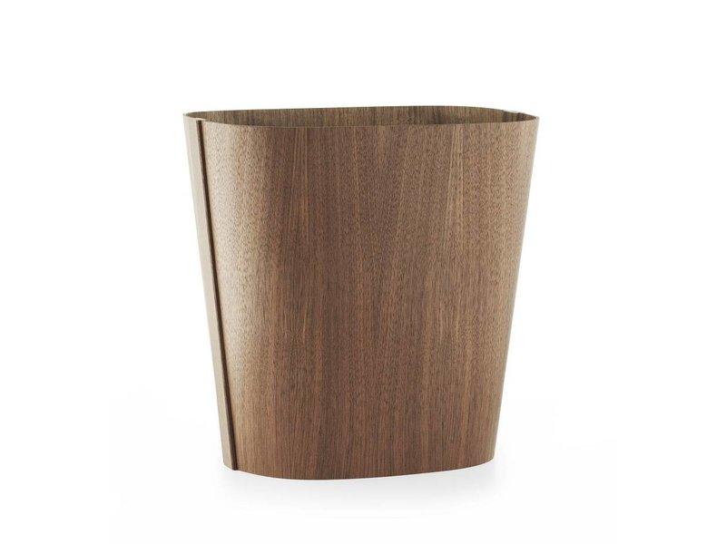 Normann Copenhagen Tales of Wood prullenmand walnoot