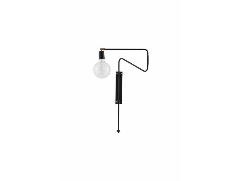 House Doctor Swing wandlamp zwart metaal messing