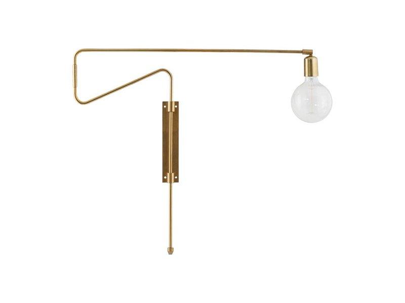 House Doctor Swing wandlamp messing ijzer verstelbaar