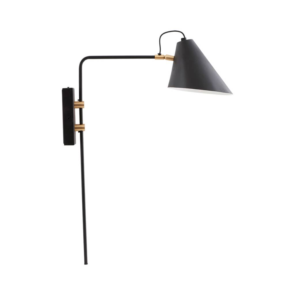 House Doctor Club Wall Lamp Black Metal Brass Living And Co
