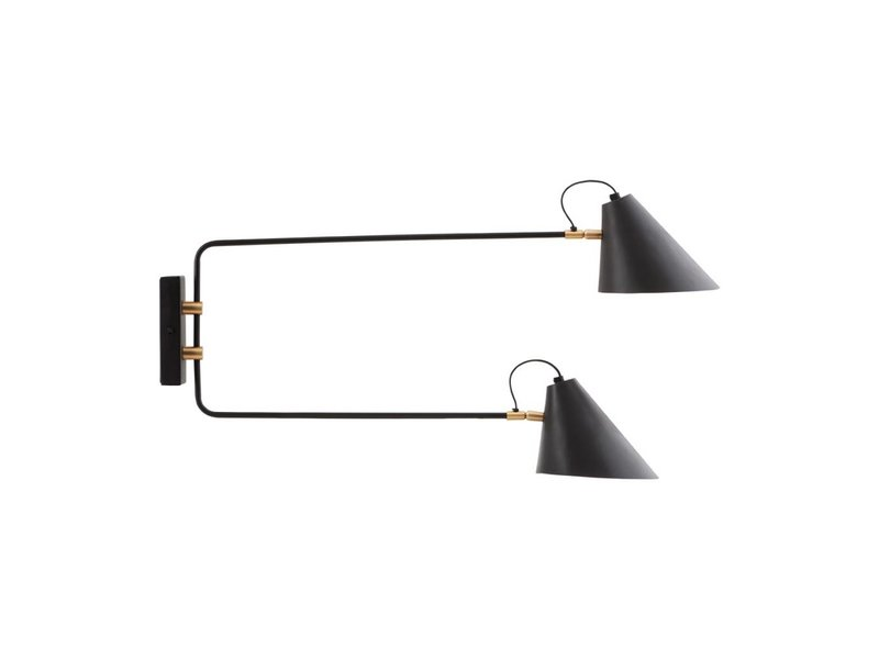 House Doctor Club wall lamp black metal adjustable