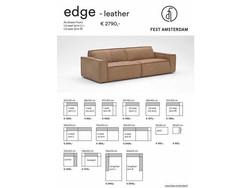 FEST Amsterdam Edge sofa lædersofa