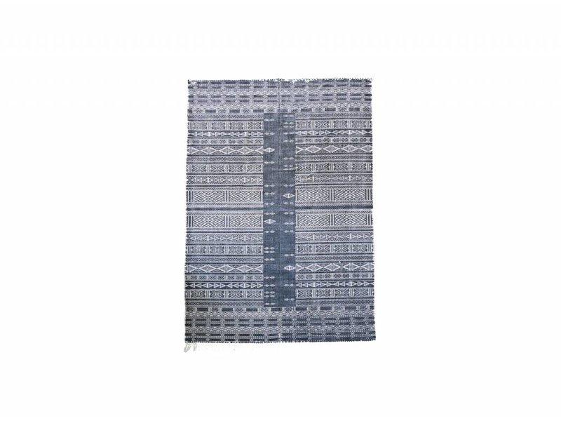 House Doctor Julia vloerkleed 160x230 cm zwart wit katoen