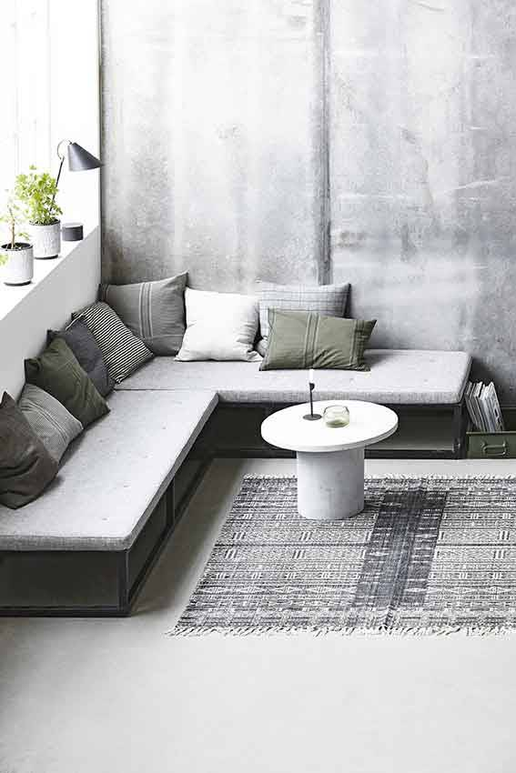 House Doctor Julia Rug Cotton White Grey 160x230 Living And Co
