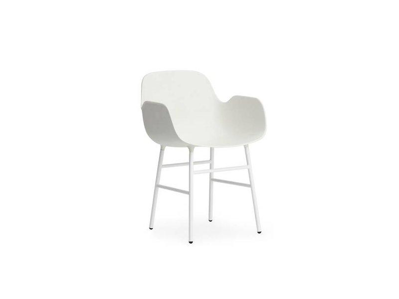 Normann Copenhagen Form Armchair stoel staal wit