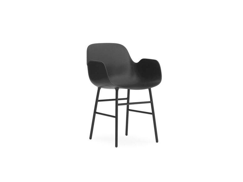 Normann Copenhagen Form Armchair stoel staal zwart