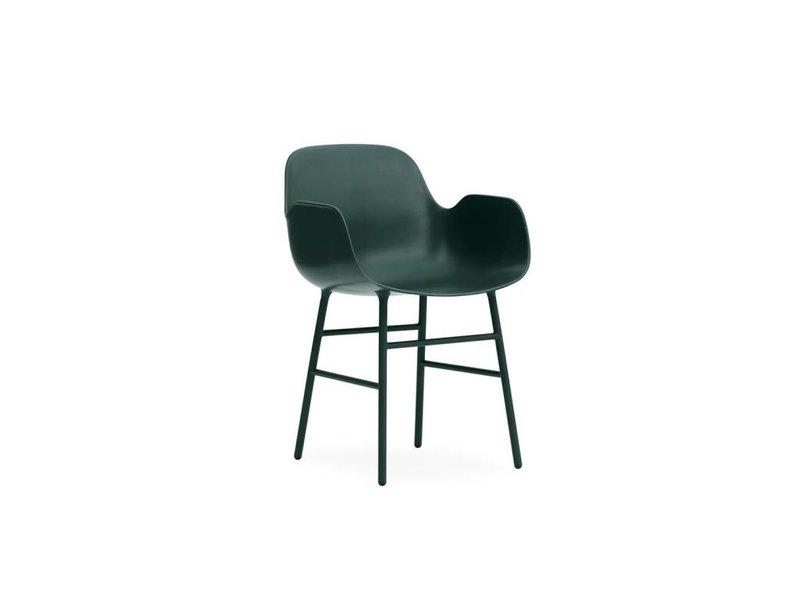 Normann Copenhagen Form Armchair stoel staal groen