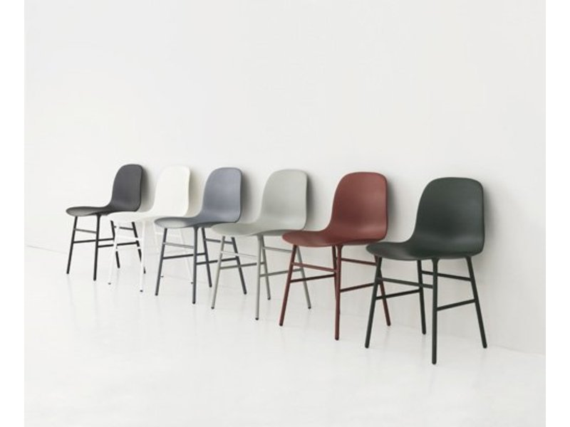 Normann Copenhagen Form Chair stoel staal wit