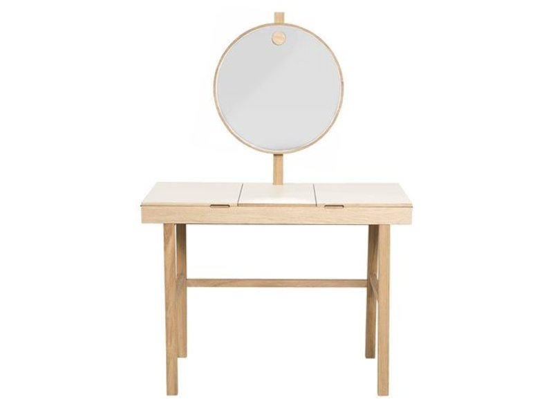 Bloomingville phine make up table white natural wood living and co.