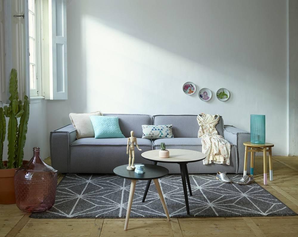 Stilig Edge bank sofa stof sydney 91 lichtgrijs - LIVING AND CO. DV-15